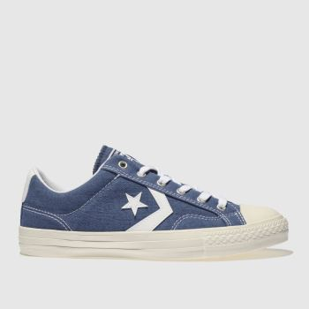 Converse Navy & White STAR PLAYER OX Trainers