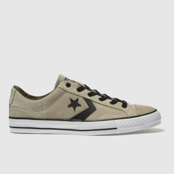 CONVERSE BEIGE STAR PLAYER OX TRAINERS