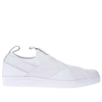 Adidas White Superstar Slip-On Mens Trainers