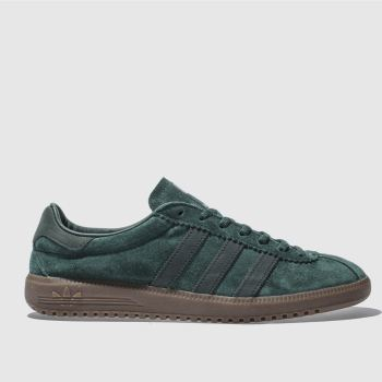 ADIDAS DARK GREEN BERMUDA TRAINERS