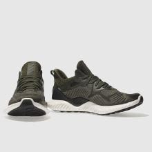 finest selection 4eaf8 8e50e adidas khaki alphabounce trainers