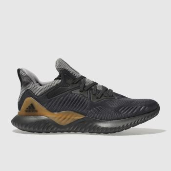 Adidas Dark Grey Alphabounce Mens Trainers