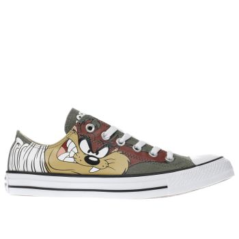 CONVERSE KHAKI  LOONEY TUNES TAZ OX TRAINERS