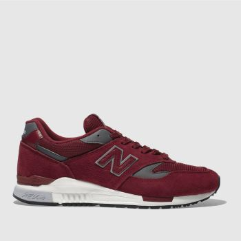 New Balance Burgundy 840 Mens Trainers