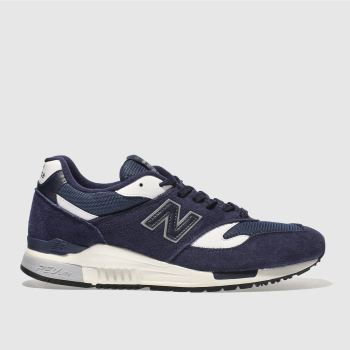 NEW BALANCE NAVY & WHITE 840 TRAINERS