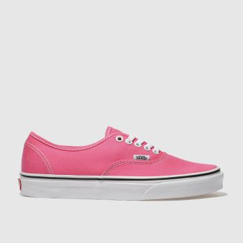 Vans Pink Authentic Mens Trainers