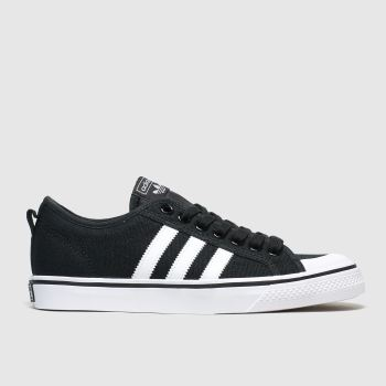 Adidas Black & White Nizza c2namevalue::Mens Trainers