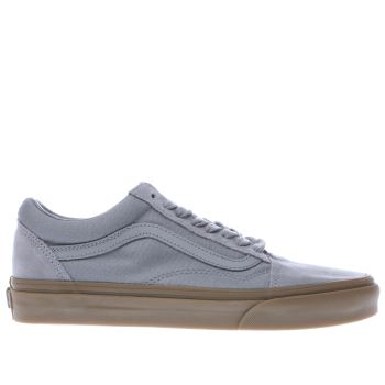 Vans Grey Old Skool Light Gum Mens Trainers