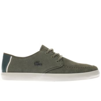 LACOSTE KHAKI SEVRIN TRAINERS