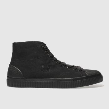 Fred Perry Black Hughes Mid Mens Trainers