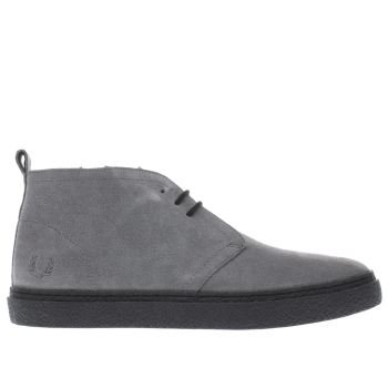 FRED PERRY GREY HAWLEY MID BOOTS