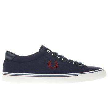 Fred Perry Navy UNDERSPIN Trainers