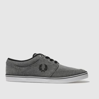 Fred Perry Black Stratford Pique Mens Trainers
