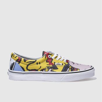 3552a857e5 mens yellow   red vans era peanuts the gang trainers