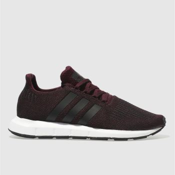 Adidas Burgundy Swift Run Mens Trainers