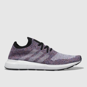 Adidas Purple Swift Run Primeknit Mens Trainers