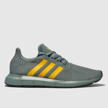 ADIDAS GREEN SWIFT RUN TRAINERS