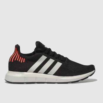 Adidas Black & White Swift Run Mens Trainers
