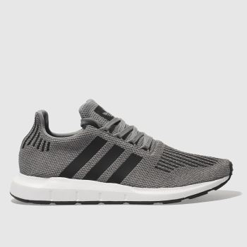 Adidas Grey & Black SWIFT RUN Trainers