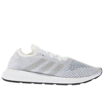ADIDAS WHITE SWIFT RUN PRIMEKNIT TRAINERS