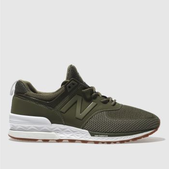 New Balance Khaki 574 Sport Mens Trainers