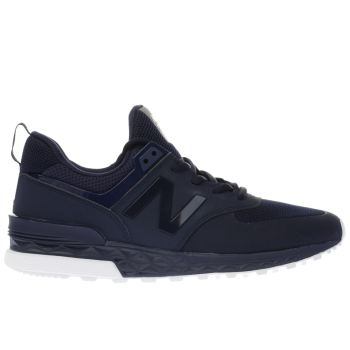 NEW BALANCE NAVY 574 SPORT TRAINERS