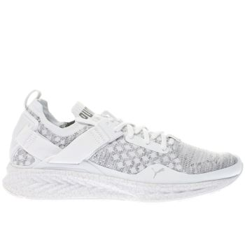 PUMA WHITE & GREY IGNITE LIMITLESS EVOKNIT TRAINERS