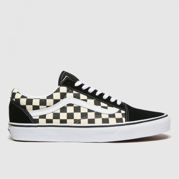 Vans Black & White Old Skool Primary Check Mens Trainers
