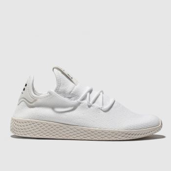 Adidas White & Beige Pharrell Williams Tennis Hu Mens Trainers