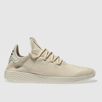 ADIDAS NATURAL PHARRELL WILLIAMS TENNIS HU TRAINERS
