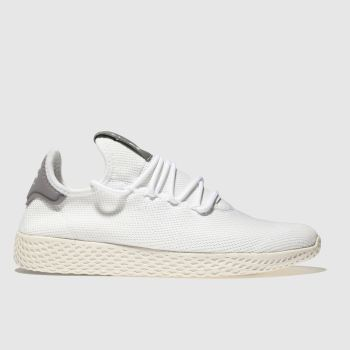 Adidas White & grey Pharrell Williams Tennis Hu Mens Trainers