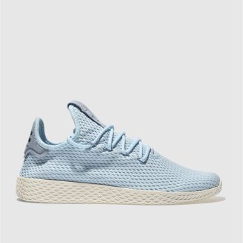 ADIDAS PALE BLUE PHARRELL WILLIAMS TENNIS HU TRAINERS