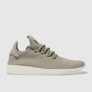 Adidas Khaki Beige PHARRELL WILLIAMS TENNIS HU Trainers