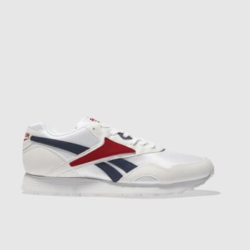Reebok White & Red RAPIDE Trainers