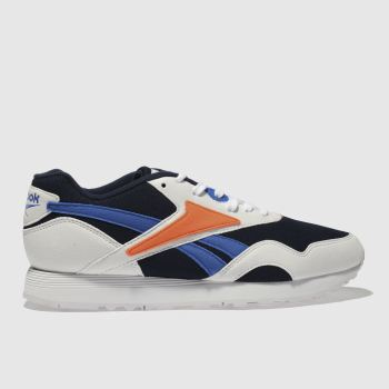 Reebok White & Navy Rapide Mens Trainers