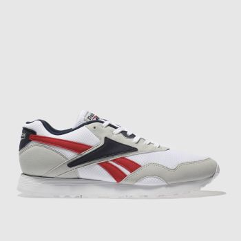 Reebok White & grey Rapide Mens Trainers