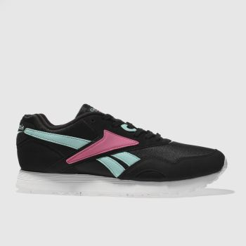 Reebok Black & pink Rapide Mens Trainers