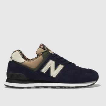 New Balance Navy & Stone 574 Trainers
