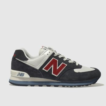 dde79ed4728a New Balance Navy 574 Mens Trainers