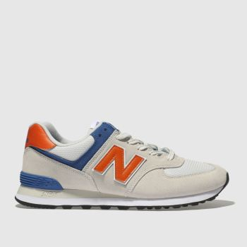 New Balance Light Grey 574 Mens Trainers