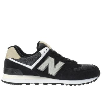 New Balance Black 574 Mens Trainers