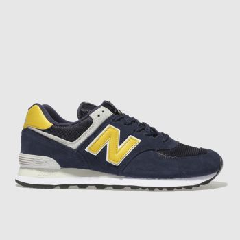 new balance navy & grey 574 trainers