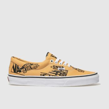 Vans Orange Era Logo Mix Mens Trainers