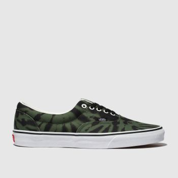 Vans Black & Green Era Mens Trainers