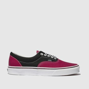 VANS BLACK & PINK ERA TRAINERS