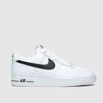 Nike White & Black Air Force 1 07 An20 Mens Trainers