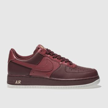 Nike Red Air Force 1 07 Mens Trainers