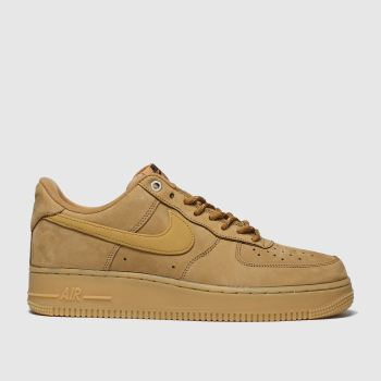 Nike Tan Air Force 1 07 Mens Trainers