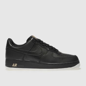 Nike Black Air Force 1 07 Mens Trainers