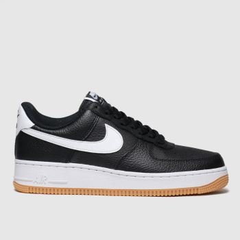 Nike Black & White Air Force 1 07 Mens Trainers